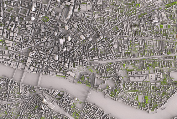 Topographic Map London.Zmapping